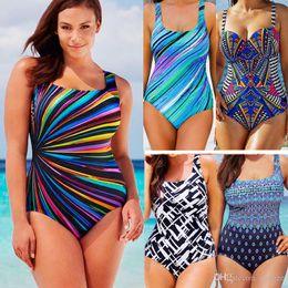 e2da48bf9a2c3 2017 Plus Size Bikini Swimwear For Women One-Piece Bandage Swimsuit Push Up  Boho Fringe Mesh Bathing Suit Monokini S M L XL XXL XXXL