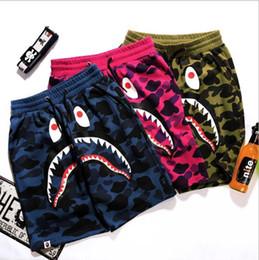Wholesale Shark Trousers - Summer New Mens wommen lovers Sportswear Pants Jogger Tracksuit causel Crewneck Bird OVO Drake Black Hip Hop stusay Men Shark mouth trousers