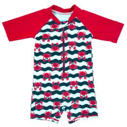 2019 magliette spandex Costume da bagno per bambini Cartone animato stampato Baby Boy Carino pagliaccetti per bambini Costume da bagno a secco sconti magliette spandex