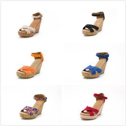 Wholesale Wedge Ankle Heels - Super High Heels Wedge Women Sandals Summer New Open Toe Fish Head Ankle Buckle Fashion females shoes Wholesale With Box Drop Shipping