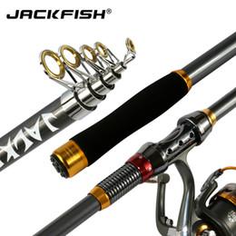 bbdcf7ce8 JACKFISH Alta Qualidade De Fibra De Carbono Telescópica Vara De Pesca Do Mar  Da Carpa Pesca Spinning Rod pesca 2.1   2.4   2.7   3.0   3.6 m acessível  alta ...