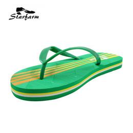 Wholesale Ladies Summer Footwear Sandals - STARFARM 2017 Fashion Beach Women Shoes Woman Green Sandals Slippers Footwear Flips Flops Summer Flops Chic Ladies Cheape Shoes