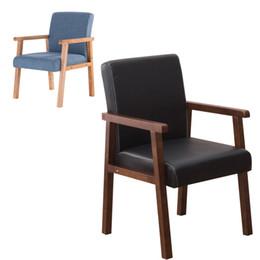 2019 sofá de móveis de algodão 100% sofá de madeira com apoio de braço cadeira de sala de estar, cor de algodão e PU cadeira de couro sofá cadeira de móveis de sofá de carvalho conferência de jantar cadeira de café sofá de móveis de algodão barato