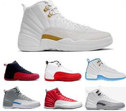 reputable site 3f143 3b30e Nike Air Jordan 12 AJ12 Retro Zapatillas de baloncesto 12 12s Burdeos Gris  oscuro lana blanca Juego de la gripe UNC Gimnasio taxi rojo gamma francés  azul ...