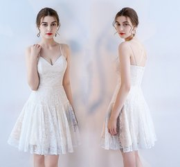 8960dd1c307 Discount gorgeous knee length prom dresses - Gorgeous Ivory Lace Prom  Dresses Sexy White Short Party