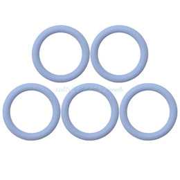 Wholesale pacifier rings - 5pcs O-Rings Silicone Baby Dummy Pacifier Chain Clips Adapter Holder for MAM #T026#