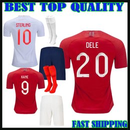Wholesale national children - kids kit 2018 england soccer Jersey home KANE VARDY STERLING dele 18 19 RASHFORD HENDERSON national team away men child football shirts