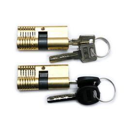 2019 herramientas de selección segura Cutaway 7 pines Brass Practice Lock training Selección de habilidad para cerrajero