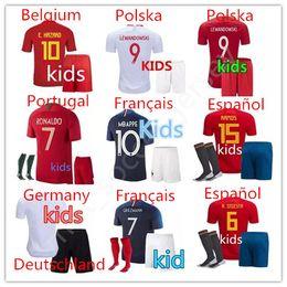 Wholesale feet foot - France World Cup Portugal soccer Jerseys kids ronaldo españa football Français maillot de foot Champions League psg maillot de foot Poland