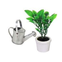 Metal watering can online-1 pz scala 1:12 in metallo annaffiatoio casa delle bambole casa delle bambole giardino miniatura decorazione accessorio giocattolo per bambini