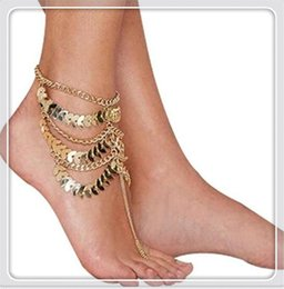 Wholesale Anchor Ankle Bracelet - Fashion Jewelry Lady Charming Women Anklets Barefoot Coin Ankle Chain Anklet Bracelet Foot Jewelry Sandal Beach Anklets Gift Free Shipping