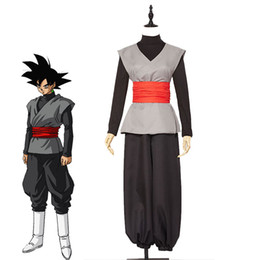 fai vestito da halloween Sconti Anime Super Son Goku Black Zamasu Kai Costume Cosplay Halloween Carnevale Outfit Uniformi Custom Made