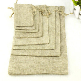 Wholesale Mini Sachets - 10x15 Linen Bag Drawstring Wedding&Christmas Packaging Pouchs & Gift Bags Small Jewelry Sachet &Mini Jute bags F20173469
