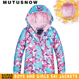 Ski Jacket Girls Winter Brands 2018 High Quality Waterproof Windproof  Thicken Super Warm -30 Degrees Snow Snowboard Jacket Kids 7b7c95195