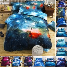 Wholesale outer space bedding - Beautiful Quilt cover Universe Outer Space Themed Bed Linen Cover Set Single double Twin Queen 2pcs bedding sets