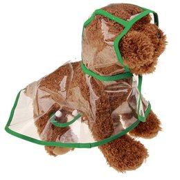 Wholesale Waterproof Rain Coat Dog - Spring Summer Puppy Cat Rain Coat Transparent Waterproof Pet Raincoat Colourful Dog Rainwear New Arrive 9cs Z R