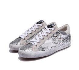Wholesale Pink Goose - Golden Goose Ggdb old style sneakers Leather Dermis Casual Shoes Mens And Women Superstar trainer xz214