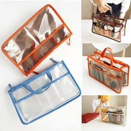 transparente make-up-tasche organizer Rabatt 6 farben Kosmetiktasche Frauen Transparent Beauty Organizer Wasserdichte Doppelreißverschluss Reise Kulturbeutel PVC Make-Up Wash Aufbewahrungstasche