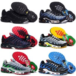 Wholesale high walk - 2018 New Mens Sports Tn Running Shoes Fashion Comfort Barefoot Walking Training Sporting Shoes Sneakers Size 40-46
