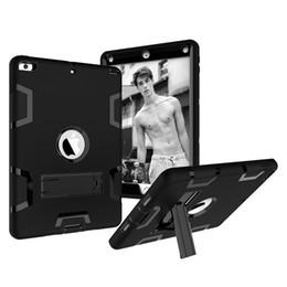 планшетный планшет Скидка Для iPad Pro 10.5 / 9.7 дюймов PC + TPU Силиконовый чехол Ударопрочный чехол для планшета с подставкой под iPad Air 2 Mini 4