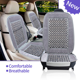 Wholesale Office Auto - Natural Wood Bead Seat Cushion Auto Car Home Chair Cover Tan Beaded Office Chair bSeat Cover
