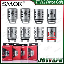 Vermelho autêntico on-line-Authentic SMOK TFV12 Príncipe Bobina de Substituição X6 Q4 M4 T10 Luz Vermelha Mesh Strip X2 Bobina Clapton para TFV12 Príncipe / Resa Príncipe tanque