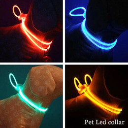 Wholesale Luminous Dog Harness - 1PC Led Light Dog Collar Glow Luminous Harness Dog Leash Pet Products For Dogs Collar For Cats Puppy Pet Accessories S2