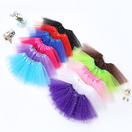 Wholesale Netting Skirts - Newborn infant TUTU Skirts Fashion Net yarn Sequin stars baby Girls Princess skirt Halloween costume 11 colors kids lace skirt C3787