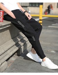 Wholesale Ankle Length Men S Coat - New 2018 Spring Strech Men Ankle length Midweigh Men Elastic Waist Pants Free TD6690