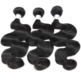 Wholesale Indian Human Hair Raw - 12A Body Wave Raw Human Hair 3Bundles With Natural Color Top Grade Quality Brazilian Peruvian Malaysian Indian Hair 8-30inch