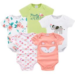 32699b66fa218 Vêtements pour bébé fille garçon 5 PCS / lot extensions de vêtements de bébé  combinaison nouveau-né 0 3 6 9 mois costume en coton Body pour bébé  Y18102008