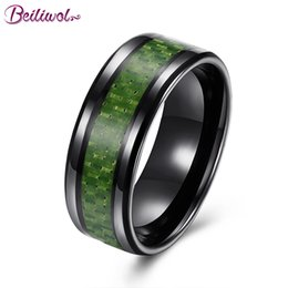 Wholesale Carbon Rings For Men - whole saleBeiliwol Trendy Rings for Men 316L Stainless Steel Carbon Fiber Black Gold Color Jewelry for Female Personality Vintage Bijoux