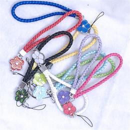 Cordão do telefone móvel do pulso ornamentos ameixa cordão crachá chaveiro corda do telefone móvel direto da fábrica de