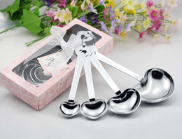 Wholesale Love Measuring Spoons - Wholesale- Love Beyond Measure Heart Measuring Spoons in Gift Box for wedding favors and gifts (50 sets) with FEDEX DHL Free Shipping