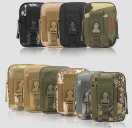 Wholesale Hockey Phone Cases - 2018 Unisex Outdoor Sport Casual Military Molle Tactical Waist Bag Wallet Pouch Phone Case Outdoor Camping Hiking Bag 10-0007