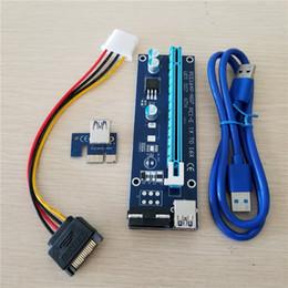 Grossistes en gros en Ligne-Gros PCIe PCI-E PCI Express Carte de montage 1x à 16x USB 3.0 Câble de données SATA à 4Pin IDE Molex Alimentation pour BTC Miner Machine RIG
