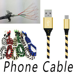 Wholesale Cell Phone Charger Types - Type C Micro USB 1m 2m 3m 0.25m Braid Charger Cable Cord Data For Samsung S8 Plus Android Cell Phone