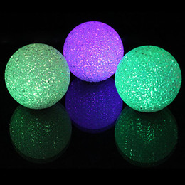 Wholesale toy magic crystal ball - New Arrival Interesting Color Changing Crystal Ball LED Night Lamp Magic 7 Colorful toy Light Changing Color Toy TY