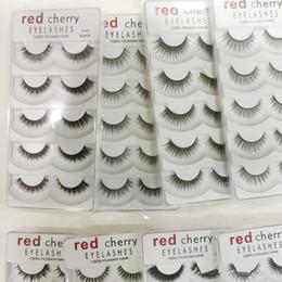 New Hot Cherry Cherry Ciglia finte 5 paia / pacco 8 Stili Natural Long Trucco professionale Occhi grandi Alta qualità da pacchetto ciliegio fornitori