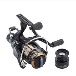 Wholesale fly carbon - Fishing Reel Carp Spinning Reel Carbon Front and Rear Drags 18KG Max Drag 9+1 BB Metal Spool Sea Boat Reel Double Knobs