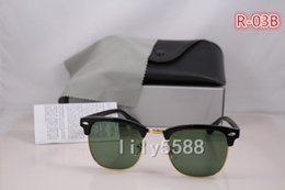 Wholesale Half Cat - High Quality G15 Glass Material Lens Brand Designer Fashion Sunglasses For Men and Women UV400 Sport Vintage Sun glasses With Original box