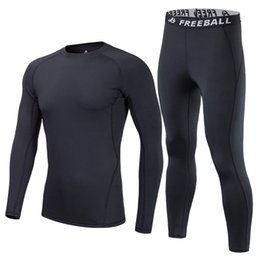 thermal shirt underwear men Promo Codes - 2017 New High Quality Brand Thermal Underwear Set Men Winter Thermo Underwear Soft Comfortable Stretch Warm Long Johns Male