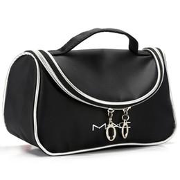 Wholesale Tie Dye Bags Wholesale - Women Travel Cosmetic Bag Portable Zipper Lip Make Up Bags Girl Function Makeup Case Beauty Black Toiletry Storage Bag