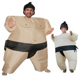 2019 costumes de mascotte Sumo Costume Gonflable Halloween Costumes Pour Les Femmes Enfants Carnaval Party Robe De Fête De Noël Tenues Fat Man Costumes Wrestler Mascot WSJ-33 costumes de mascotte pas cher