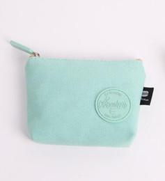 2018 Nuovo semplice versione coreana cambio moneta fresca femminile Mini sacchetto della moneta piccolo portafoglio femminile cerniera breve tasca dei soldi tasca tela D1807 da mini tela fornitori