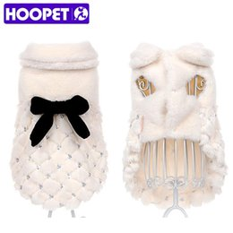 Wholesale chihuahua winter clothes - HOOPET Pet Clothes Elegant Winter Overcoat Small Dog Cat Clothes Bowknot Chihuahua