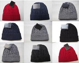 Wholesale Purple Cowboy Hats - New winter Fashion men beanie women hat casual knitted sports cap keep warm ski gorro black grey blue red Bonnet classical skull caps