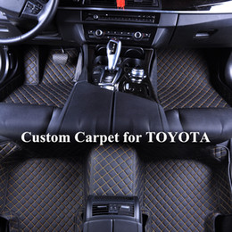 accessories camry Coupons - Wholesale Custom Car Floor Mats for toyota avalon 2015 corolla 2011 accessories highlander 2008 rav4 sienna tundra prius alfombra fortuner