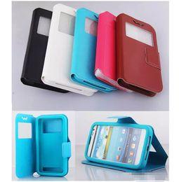 Caso de couro para iphone plus 5.5 on-line-Caso da janela da aleta universal pu leather case capa case para 4.0 4.3 4.8 5.5 polegada para iphone x 8 samsung s9 plus
