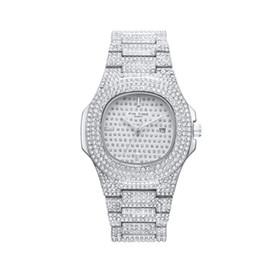 Las mujeres miran el precio barato online-Precio barato al por mayor Full Shinning Piedra Hombres Mujeres Reloj de pulsera 41mm Tamaño Movimiento de cuarzo Marca de Lujo Reloj Joyería